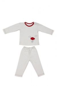 Baby pajamas with bio cotton - red balloon - 12 to 18 Months - Zizzz