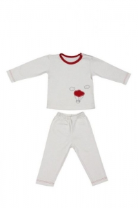 Kids pajamas with bio cotton - red balloon - 3 to 4 years - Zizzz