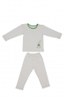 Baby pajamas with bio cotton - green frog - 12 to 18 Months - Zizzz